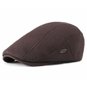 Men's Newsboy Caps Knitting Plus Velvet Beret