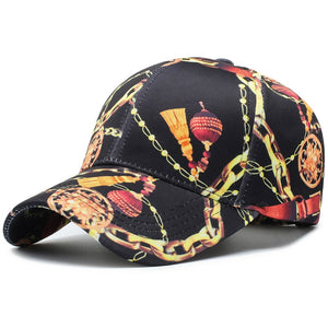 New baseball caps for women outdoor casual personality print snapback