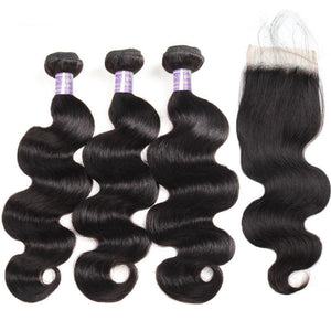 Remy Body Wave Bundles With Closure Brazilian Hair