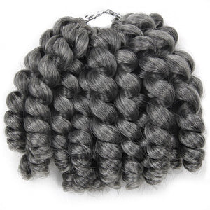 Jamaican bounce curl crochet hair extension / wand curly