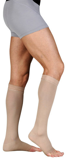 Juzo Soft (2001AD), 20-30 mmHg, Knee High, Open Toe