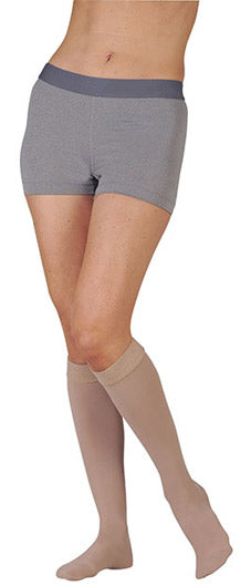 Juzo Soft (2002ADFFSB), 30-40 mmHg, Knee High, Silicone Band, Closed Toe