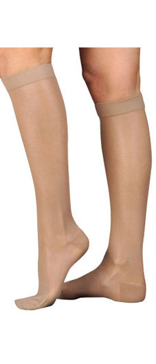Juzo Naturally Sheer (2100ADFF), 15-20 mmHg, Knee High, Closed Toe