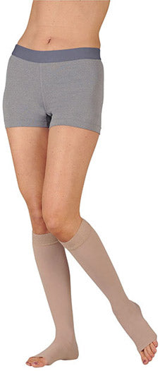 Juzo Dynamic (3511MXADSB), 20-30 mmHg, Silicone Band, Knee High, MAX, Open Toe