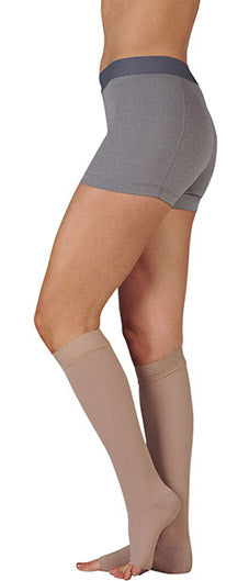 Juzo Dynamic, 20-30 mmHg, Silicone Band, Knee High, MAX, Open Toe | Beige Compression Stocking | Compression Care Center