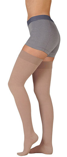 Juzo Dynamic (3511AGSB), 20-30 mmHg, Thigh High, Silicone Band, Open Toe