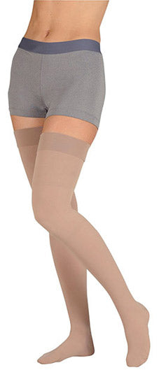 Juzo Dynamic (3513AGSB), 40-50 mmHg, Thigh High, Silicone, Open Toe (Requires Prescription)