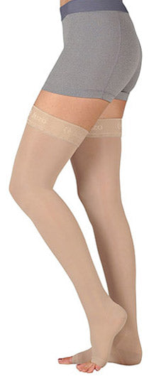 Juzo Basic (4410AG), 15-20 mmHg, Thigh High, Open Toe