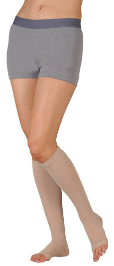 Juzo Basic, 20-30 mmHg, Knee High, Open Toe | Compression Care Center | Beige Compression Stocking