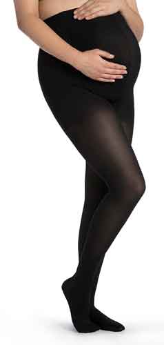 Sigvaris 841M Soft Opaque, 15-20 mmHg, Maternity Pantyhose, CT