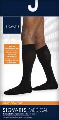 Sigvaris 852CM Daily Comfort, 20-30 mmHg, Knee High, CT