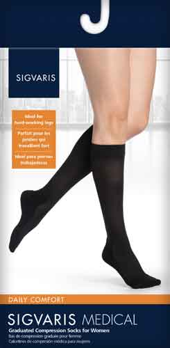 Sigvaris 852CM Comfort, 20-30 mmHg, Knee High, CT