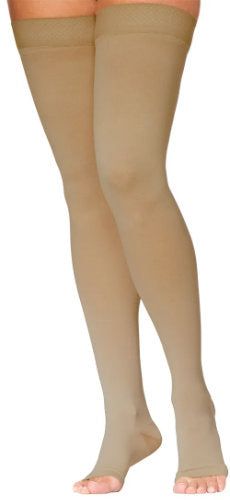 Natural Sigvaris 972NO Unisex Dynaven, 20-30 mmHg, Thigh High, Open Toe