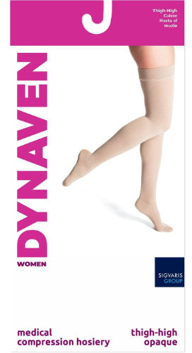 Sigvaris 972N Women's Dynaven, 20-30 mmHg, Thigh High, Closed Toe