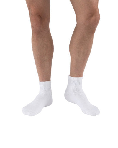 Jobst SensiFoot, 8-15 mmHg, Mini-Crew | White Compression Stocking | Compression Care Center