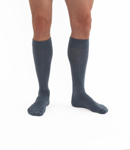 Jobst ActiveWear, 15-20 mmHg, Knee High, Closed Toe | Gray Knee High Stocking| Compression Care Center