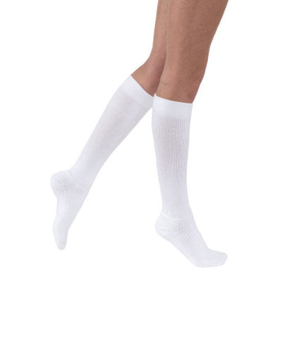 Jobst ActiveWear, 15-20 mmHg, Knee High, Closed Toe | White Closed Toe Stocking | Compression Care Center