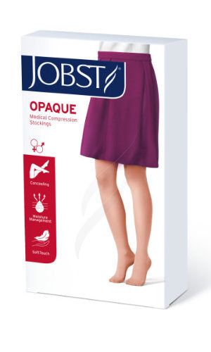 Jobst Opaque, 15-20 mmHg, Thigh High w/Sensitive Band, Closed Toe