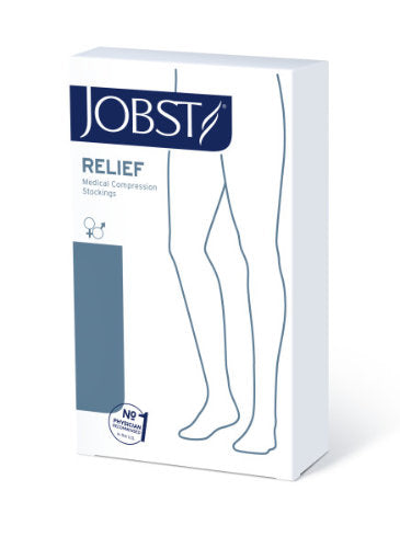Jobst Relief, 20-30 mmHg, Knee High, Silicone, Open Toe | Compression Care Center