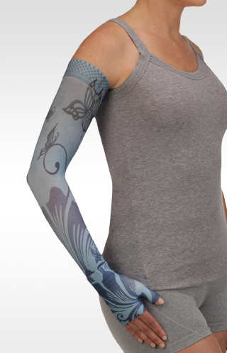 Juzo Butterfly Flower Blue Compression Armsleeve