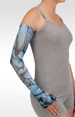 Juzo Butterfly Morpho Blue Compression Armsleeve