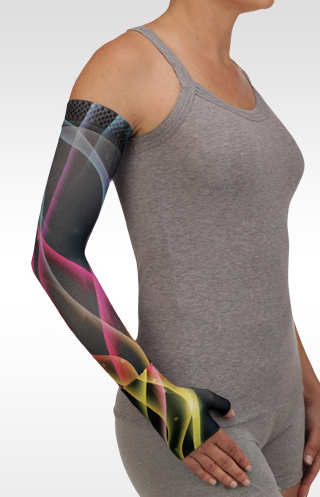 Juzo Electric Wave Pink Compression Armsleeve