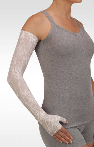 Juzo Lace White Compression Armsleeve