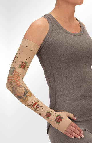 Juzo Navy Tattoo Compression Armsleeve