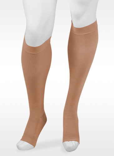 Juzo Assist, 20-30 mmHg, Knee High w/Silicone Band | Open Toe Stocking | Compression Care Center