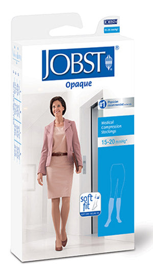Jobst Opaque w/SoftFit, 15-20 mmHg, Knee High, Closed Toe