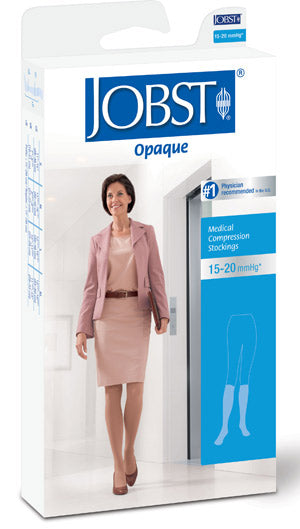 Jobst Opaque, 15-20 mmHg, Knee High, Closed Toe