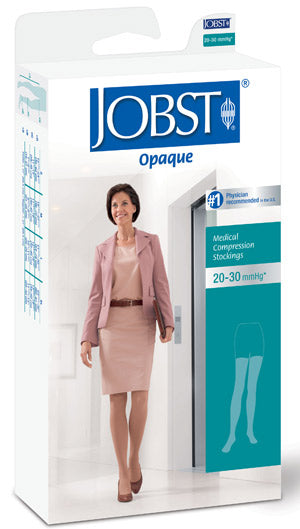 Jobst Opaque, 20-30 mmHg, Thigh High w/Silicone Dot Band, Open Toe