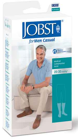 Jobst forMen Casual, 30-40 mmHg, Knee High, Closed Toe
