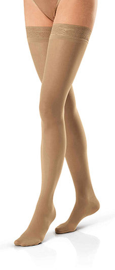 Jobst Ultrasheer, 15-20 mmHg, Thigh High w/Sensitive Band, Closed Toe
