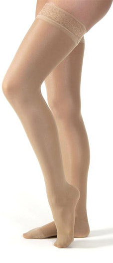 Jobst Ultrasheer, 15-20 mmHg, Thigh High w/Lace Band, Closed Toe