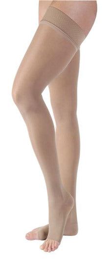 Jobst Ultrasheer, 30-40 mmHg, Thigh High w/Silicone Dot Band, Open Toe