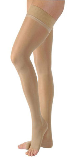 Jobst Ultrasheer, 15-20 mmHg, Thigh High w/Silicone Dot Band, Open Toe