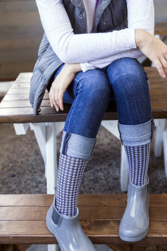 Mediven Rejuva Houndstooth, 15-20 mmHg, Knee High, Closed Toe
