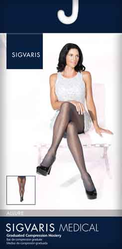 Sigvaris 711P Allure for Women, 15-20 mmHg, Pantyhose, CT