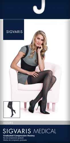Sigvaris 711N Patterns for Women, 15-20 mmHg, Thigh High, CT