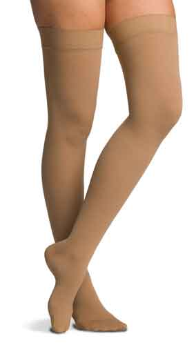 Sigvaris 232N Cotton (Unisex), 20-30 mmHg, Thigh High w/Silicone, Open Toe