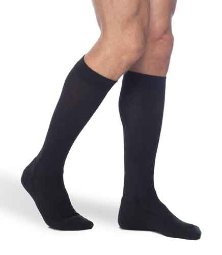 Sigvaris 182C Cushioned Cotton for Men, 15-20 mmHg, Knee High, CT