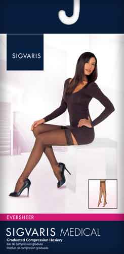 Sigvaris 782NO Sheer, 20-30 mmHg, Thigh High, Grip Top, Open Toe