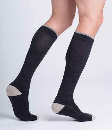 Sigvaris 422C Thermoregulating Wool Sock, 20-30 mmHg, Knee High, Closed Toe