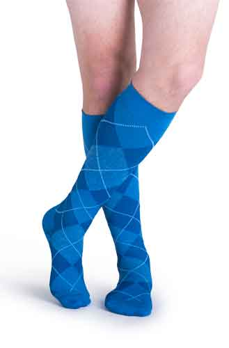 Sigvaris 832C Microfiber Patterns (Argyle), 20-30 mmHg, Knee High