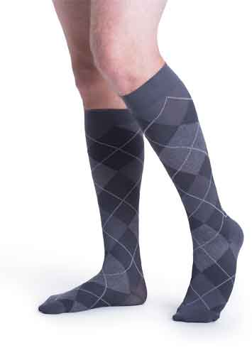 Sigvaris 143C/183C Microfiber Shades (Argyle), 15-20 mmHg, Knee High
