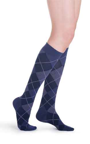 Sigvaris 832C Microfiber Shades (Argyle), 20-30 mmHg, Knee High