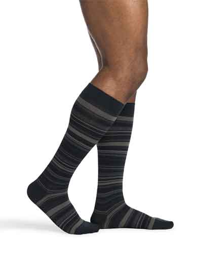 Sigvaris 832C Microfiber Patterns (Mini-Stripe), 20-30 mmHg, Knee High