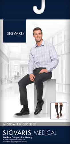 Sigvaris 822C Microfiber for Men, 20-30 mmHg, Knee High