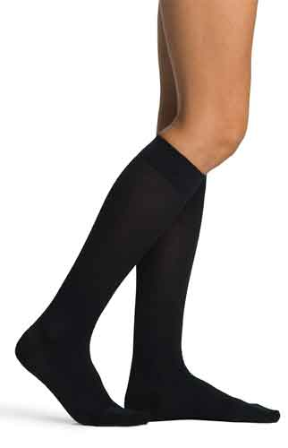 Sigvaris 151C Sea Island Cotton for Women, 15-20 mmHg, Knee High, CT